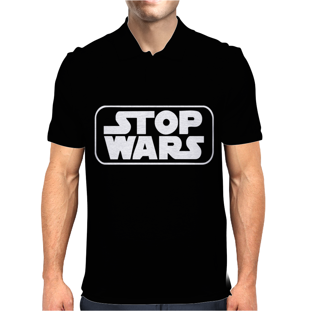 Stop Wars Star Darth Vader Jedi Yoda Stormtrooper Lord of The Rings Mens Polo