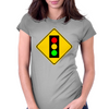 Stoplight Ahead  Womens Fitted T-Shirt