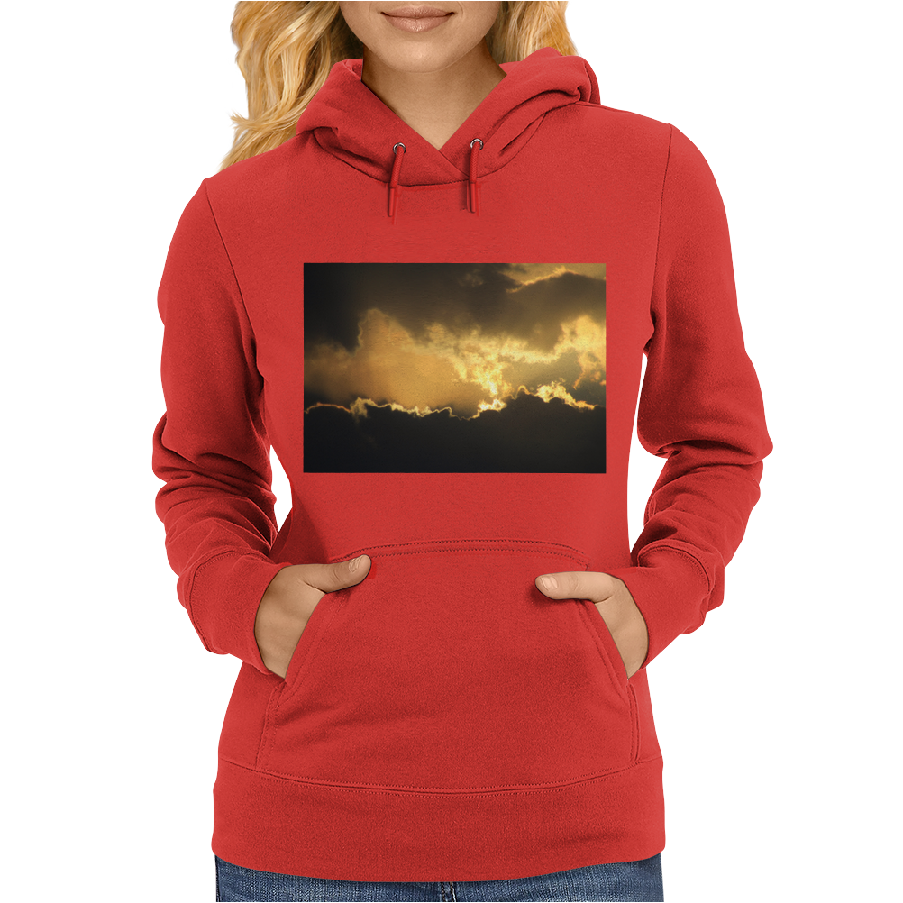 Storm Clouds of Gold Womens Hoodie