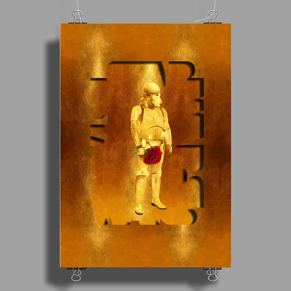 Stormtrooper Gold Edition Poster Print (Portrait)