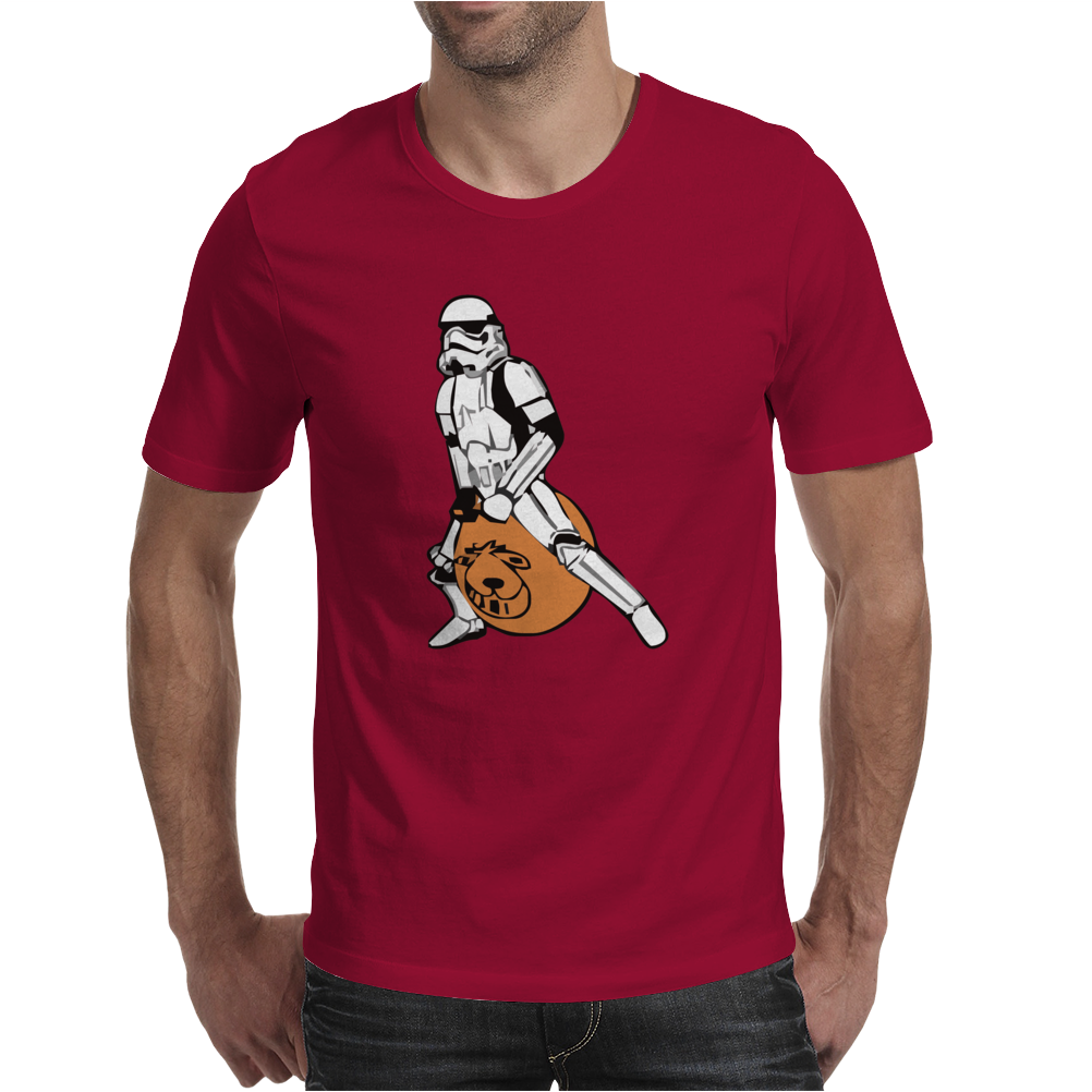 Stormtrooper On A Spacehopper Mens Funny Star Wars Mens T-Shirt