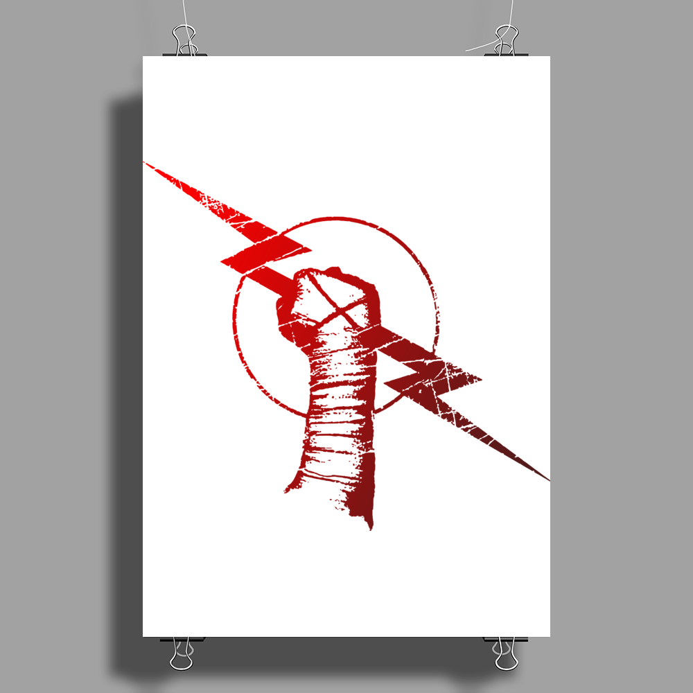 Straight Edge Poster Print (Portrait)