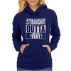Straight Outta Add Your Text Womens Hoodie