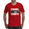 Straight Outta Da Grotto - Christmas Elf Mens T-Shirt