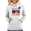 Straight Outta Da Grotto - Christmas Elf Womens Hoodie
