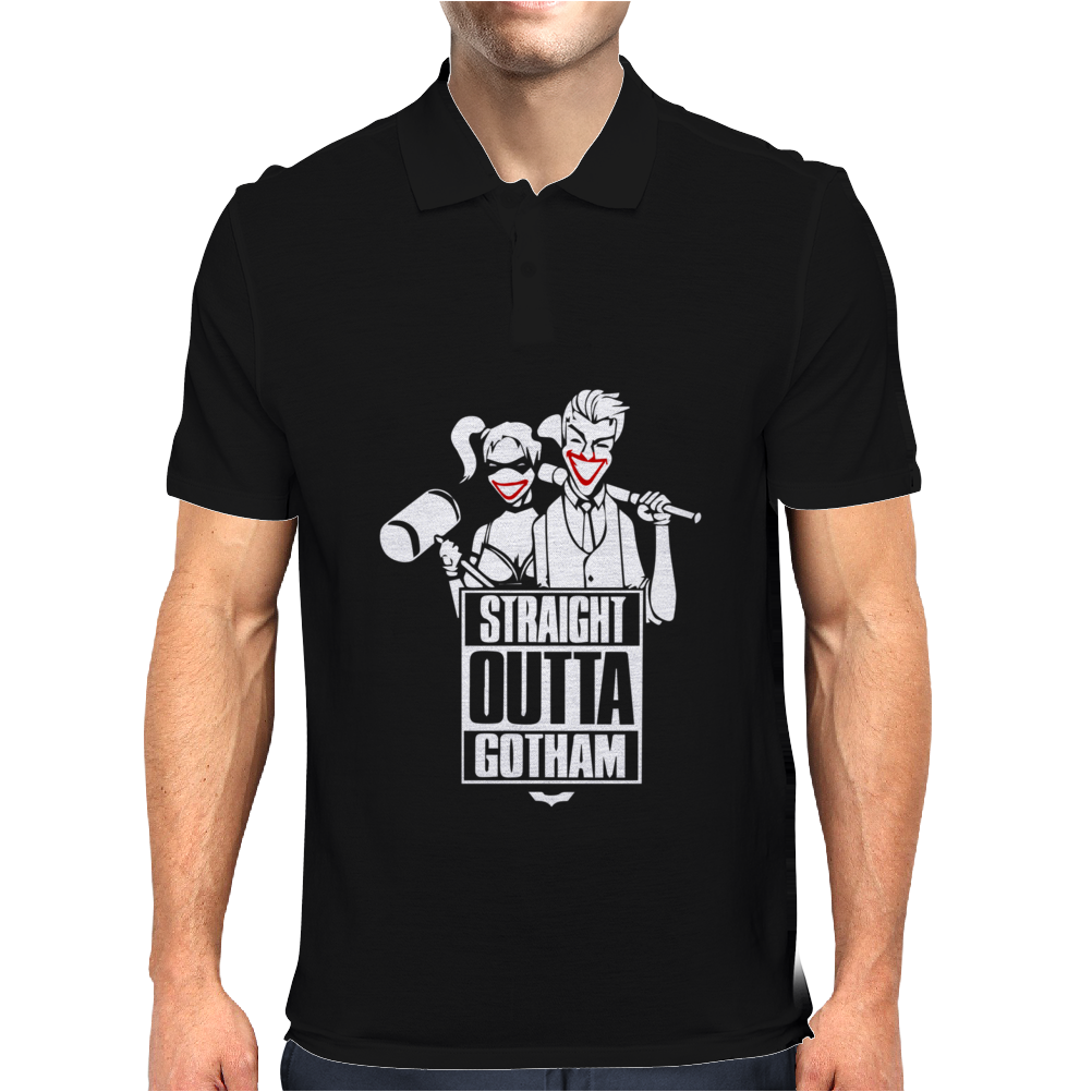 Straight Outta Gotham Mens Polo