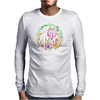 Strawberry Cake Watercolor Mens Long Sleeve T-Shirt