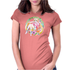 Strawberry Cake Watercolor Womens Fitted T-Shirt
