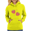 Strawberry pattern Womens Hoodie