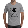 Street Art Revoliution Flowers Mens T-Shirt