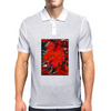 Stunning Red Maple Leaf Painting Mens Polo