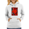 Stunning Red Maple Leaf Painting Womens Hoodie