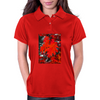 Stunning Red Maple Leaf Painting Womens Polo