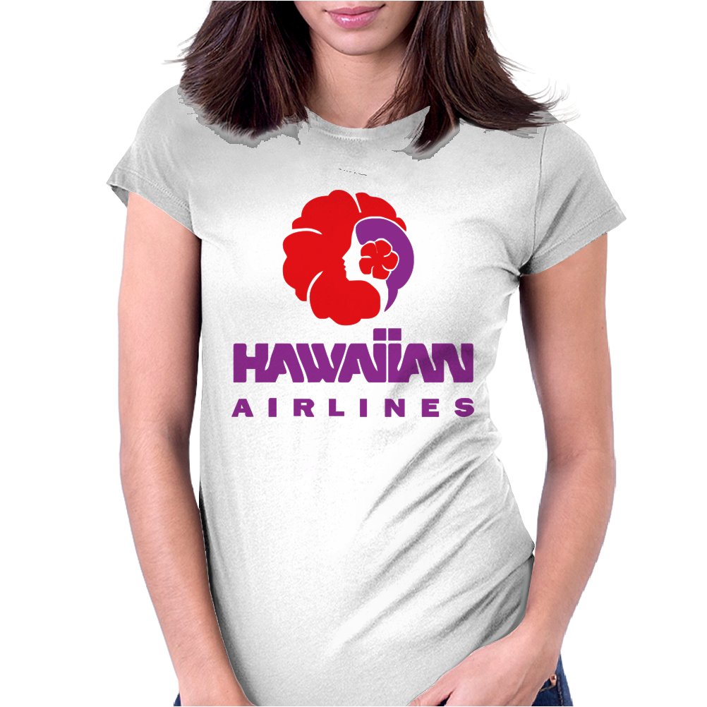 Stylish Retro Hawaiian Airlines Womens Fitted T-Shirt