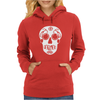 Sugar Skull Bike Parts art Womens Hoodie