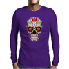 Sugar Skull roses eyes Day of the Dead Mens Long Sleeve T-Shirt