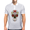 Sugar Skull roses eyes Day of the Dead Mens Polo