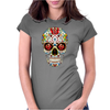 Sugar Skull roses eyes Day of the Dead Womens Fitted T-Shirt