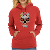 Sugar Skull roses eyes Day of the Dead Womens Hoodie
