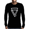 Summer Men Casual Triangle Printed Short Sleeve Tee Mens Long Sleeve T-Shirt