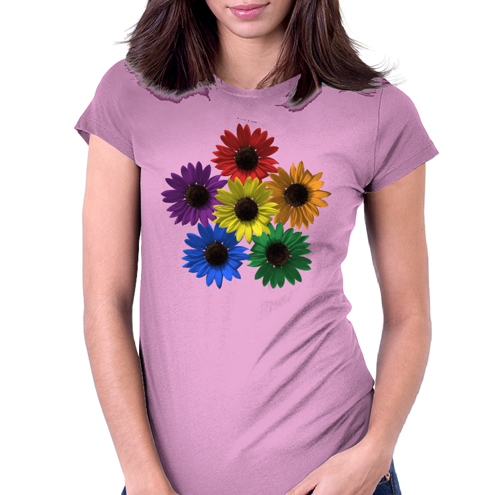 Sunflower Pride Womens Fitted T-Shirt