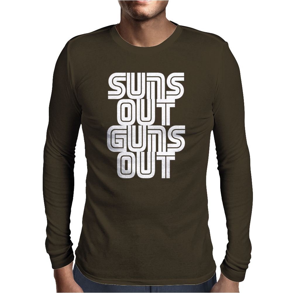 Suns Out Guns Out LOL Funny Mens Long Sleeve T-Shirt