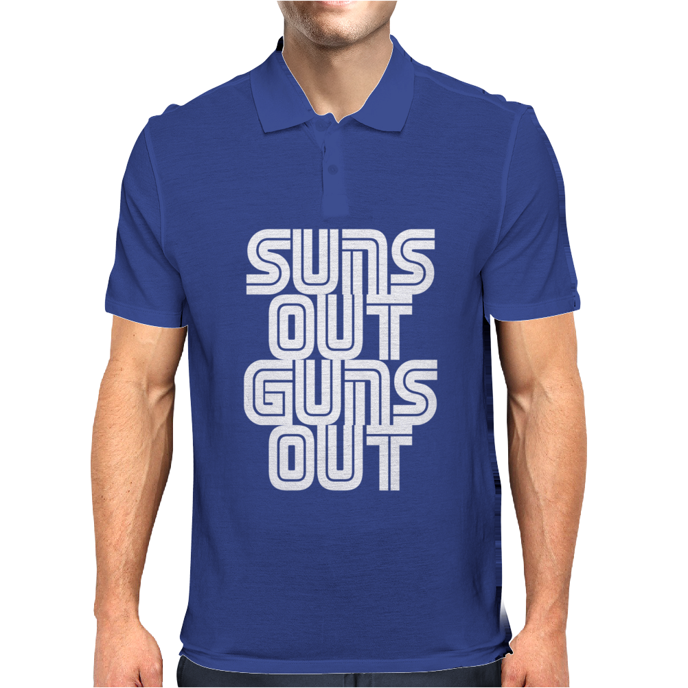 Suns Out Guns Out LOL Funny Mens Polo