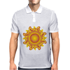 sunshine summertime fire hot flame Mens Polo