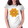 sunshine summertime fire hot flame Womens Fitted T-Shirt