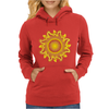 sunshine summertime fire hot flame Womens Hoodie