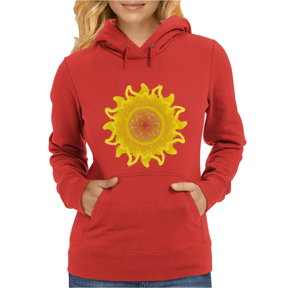 sunshine summertime springtime fire hot flame Womens Hoodie
