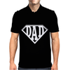 Super Dad Diamond Superhero Daddy Comic Cartoon Mens Polo