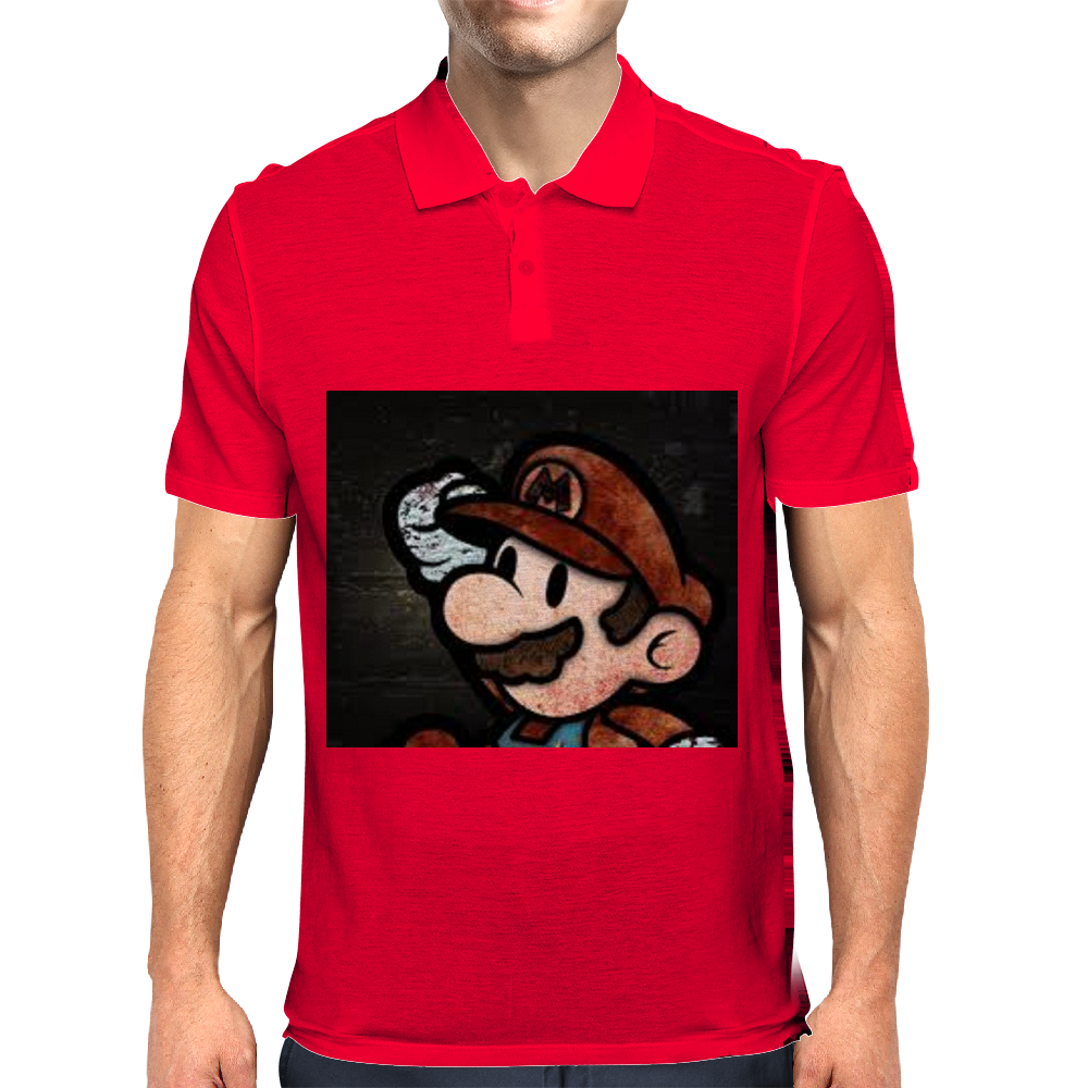 Super Mario Art Mens Polo