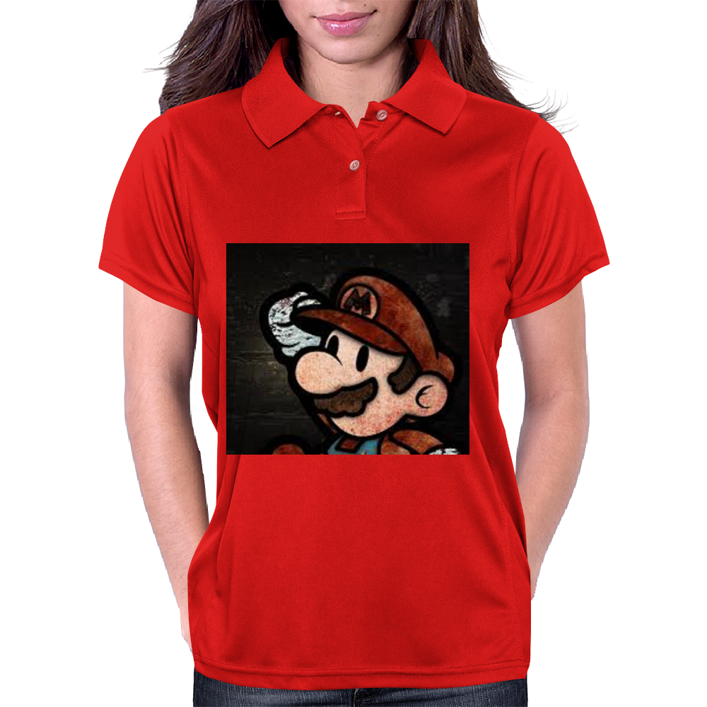 Super Mario Art Womens Polo
