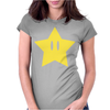 Super Mario Power Star Womens Fitted T-Shirt
