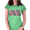Superhero Tessellation Womens Fitted T-Shirt