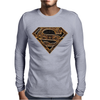 Superman Aztec Symbol Logo Mens Long Sleeve T-Shirt