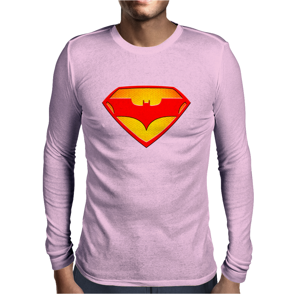 Superman & Batman Mens Long Sleeve T-Shirt