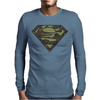 Superman Camo Camouflage Logo Mens Long Sleeve T-Shirt