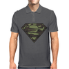 Superman Camo Camouflage Logo Mens Polo