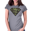 Superman Camo Camouflage Logo Womens Fitted T-Shirt