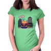 Superman Cat Womens Fitted T-Shirt