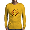 Superman Claw Design Mens Long Sleeve T-Shirt