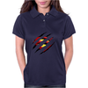 Superman Claw Design Womens Polo