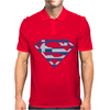 Superman Greek Greece Mens Polo