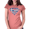 Superman Greek Greece Womens Fitted T-Shirt