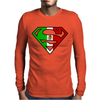 Superman Mexican Flag Mexico Logo Mens Long Sleeve T-Shirt