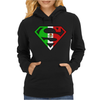 Superman Mexican Flag Mexico Logo Womens Hoodie