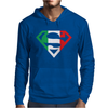 Superman Shield with Italian Mens Hoodie