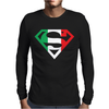 Superman Shield with Italian Mens Long Sleeve T-Shirt